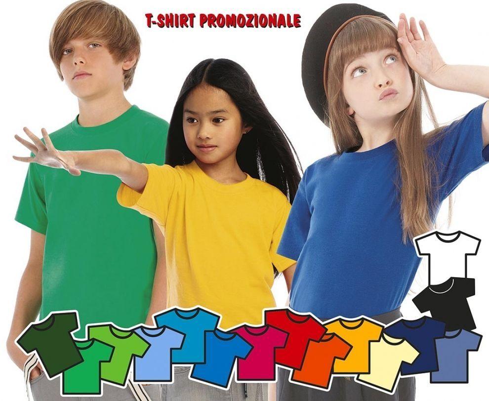 t-shirt maglietta per bambini per gite scolastiche, feste scolastiche, campi estivi