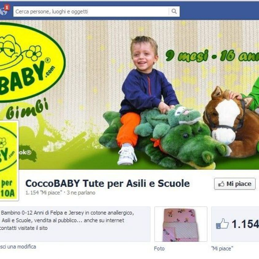 La pagina Facebook Ufficiale di COCCOBABY