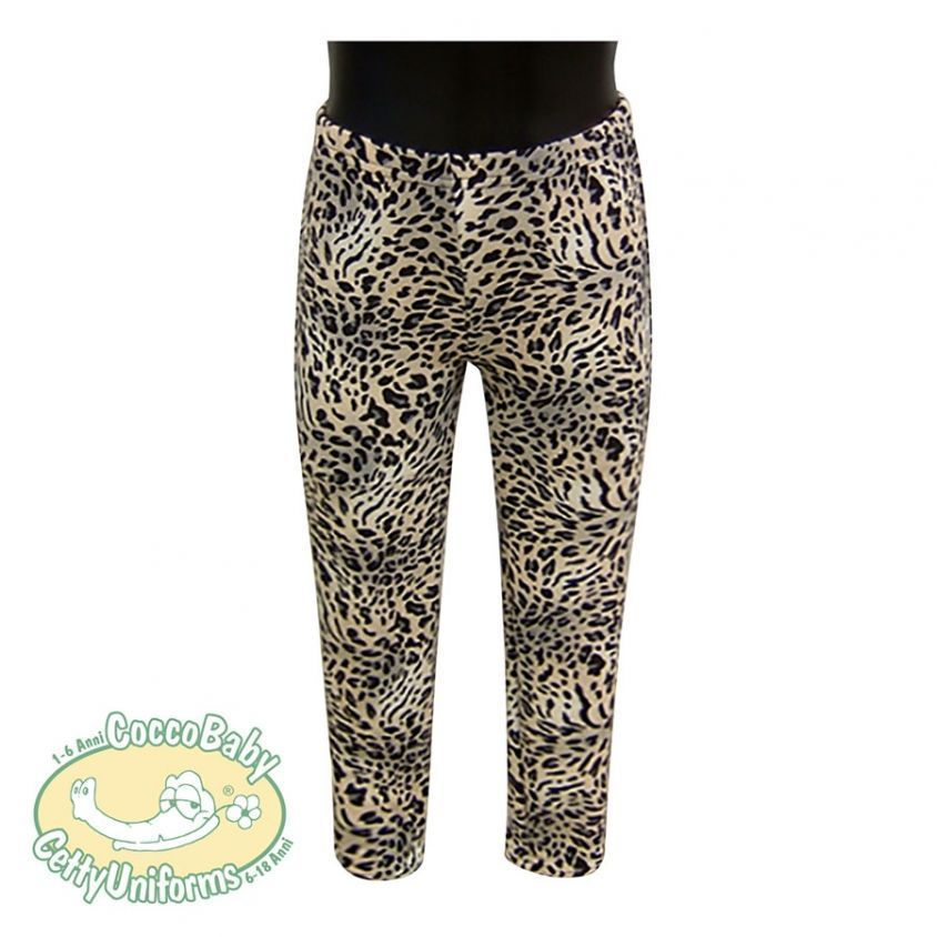 Leggings con fantasia animalier leopardo