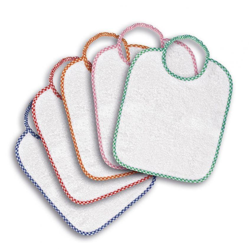 set asilo con bavaglini e asciugamani in promozione