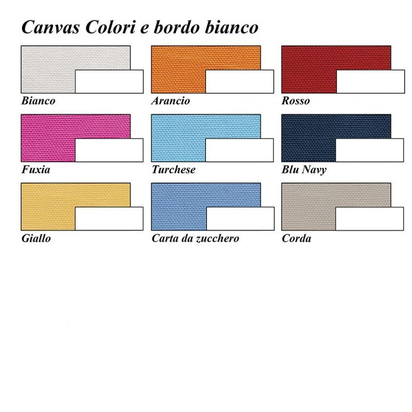 Kanvas e bordo colori disponibili