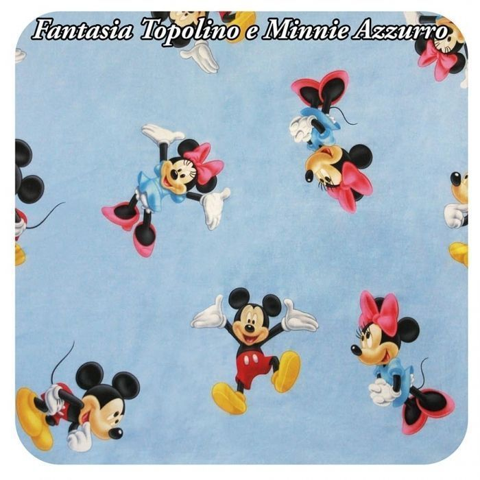 "Fantasia ""Topolino e Minnie"" Azzurro disponibile"