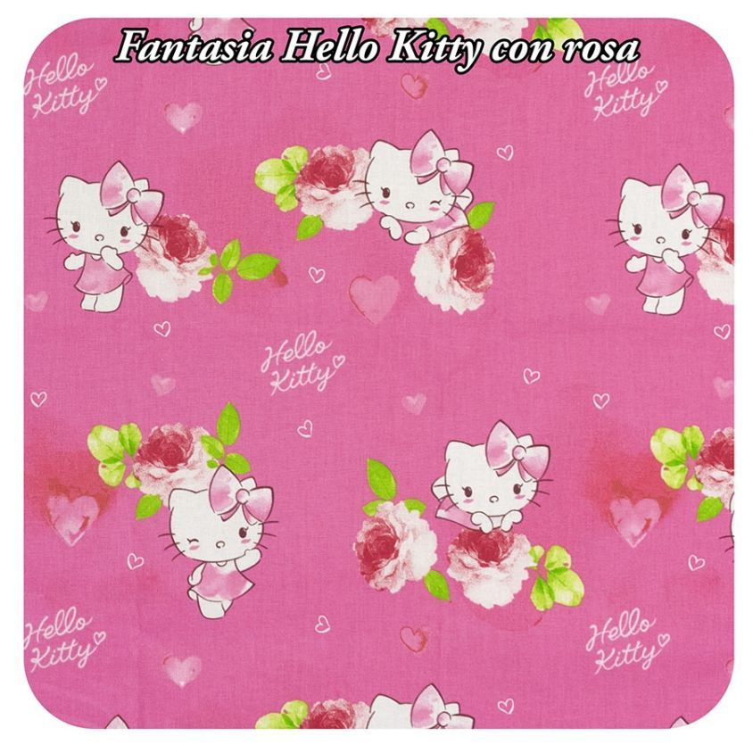 Fantasia Hello Kitty con rosa