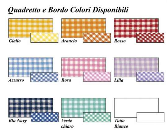 colori tasca e bordo disponibili