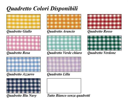 quadretto colori disponibili