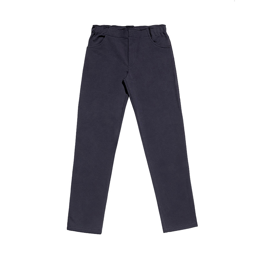 Cotton trousers with internal waist adjuster
